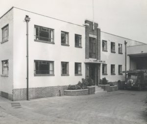 New Kirk Mill, Berry's Chairworks, Main Entrance, 1948