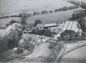 New Kirk Mill, aerial shot, 1949