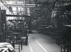 New Kirk Mill, lots of chairs, 1960s