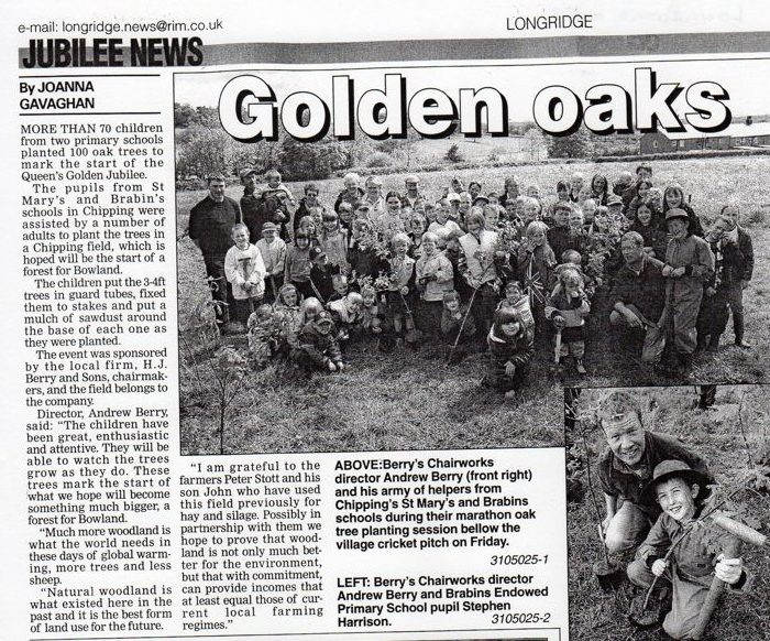 Andrew Berry Tree Planting, Longridge News, 7th June 2002