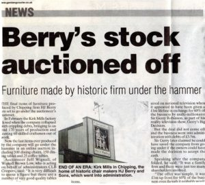 Berry's Closure - stock auction