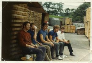 Mick Barrass, Frank New, Jimmy Gee, Chris Ellison & John Bee at Berry's