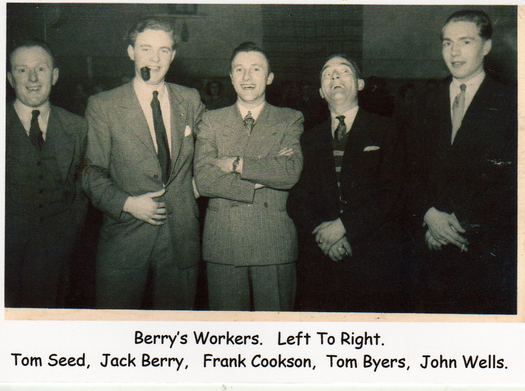 Berry's Party, Tom Seed, Jack Berry, Frank Cookson, Tom Byers, John Wells