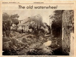 Chipping Mill, Water Wheel