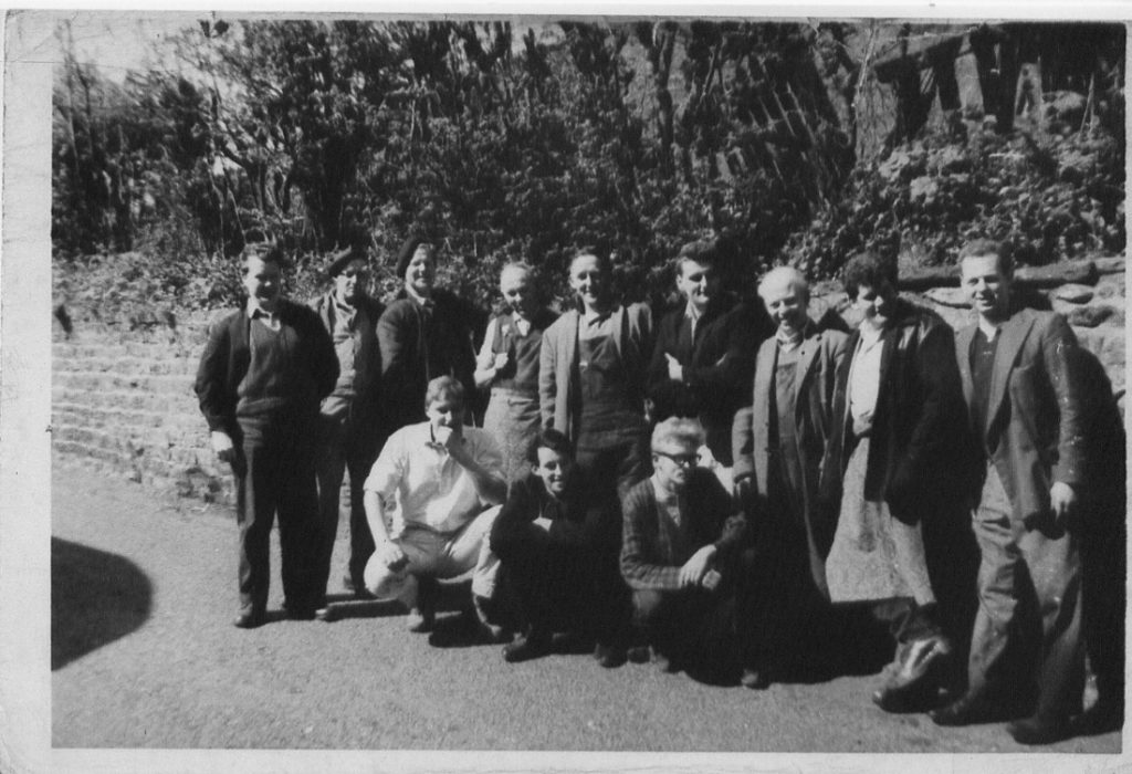 George Ellison, Harry Seed, Tom Mercer, Stan Burrows, Jim Harrison, Bill Garstang, Wilf Blizzard, Ken Willan, Tony Martin, Frank Wells, John Walker