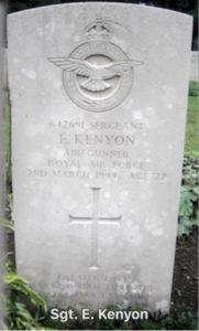 Ernest Kenyon War Grave Durbach Cemetary