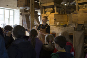 Heron Corn Mill visit - learning about milling corn